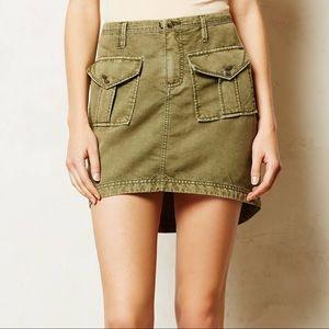 Anthropologie Marrakech Twill Cargo Skirt NWOT